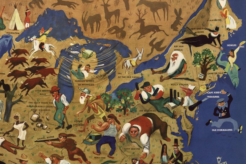 William Gropper's American Folklore Map