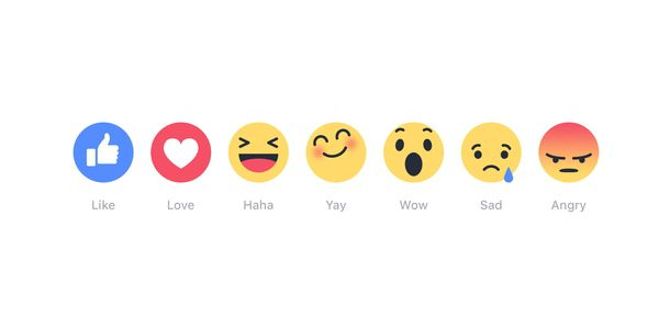 The emotions you are now allowed to have on Facebook.