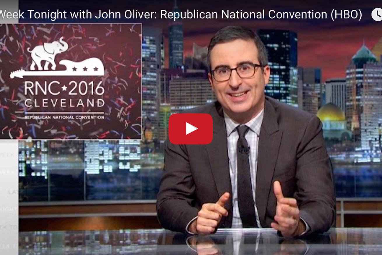 community news, Video: HBOs John Oliver clowns UFCs Dana White for Trump stump on Last Week Tonight