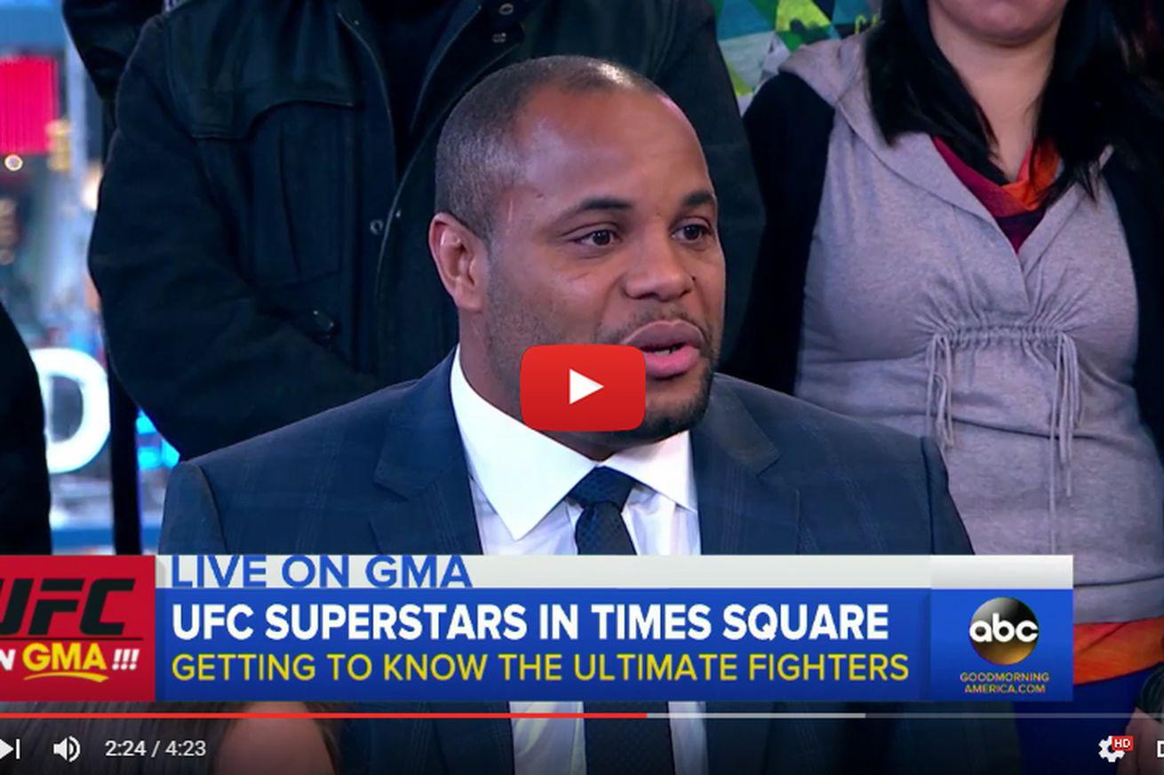 AWKWARD! UFC 200s Daniel Cormier, Jon Jones forced to play nice on Good Morning America (Video)