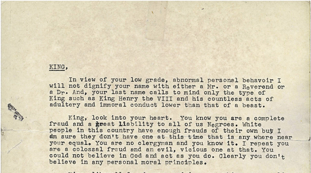 read the letter the fbi sent mlk to try to convince him to