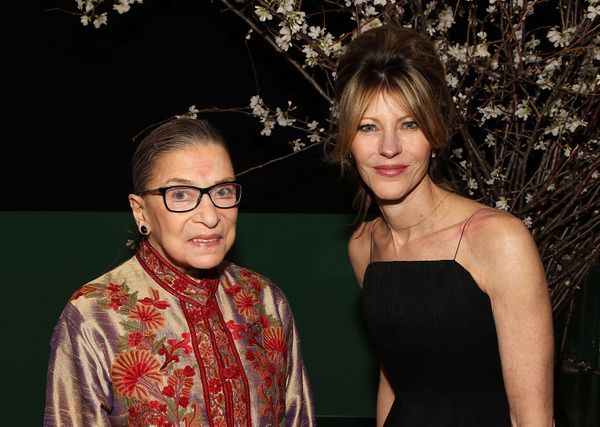 RBG, with Elle editor-in-chief Robbie Myers.