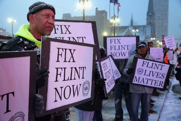 Protesters in Flint.