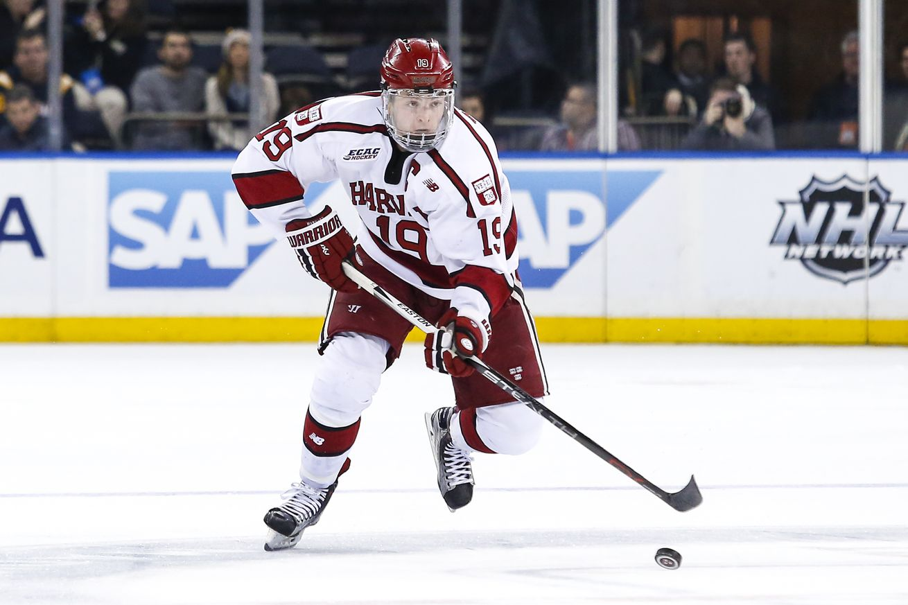 Jimmy Vesey Agrees To Terms With New York Rangers