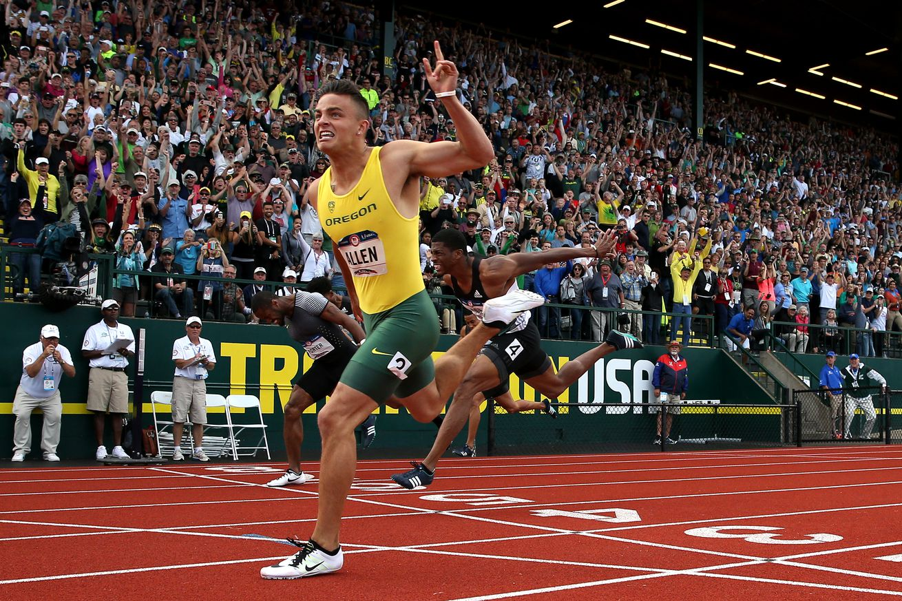 Oregon WR Devon Allen wins 110-meter hurdles, qualifies for Olympics
