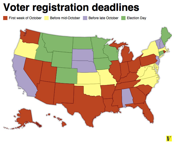 Registered To Vote? Here's A List Of Voter Registration