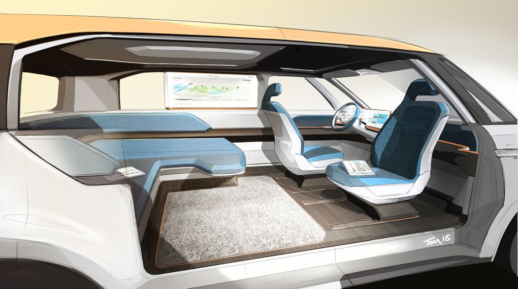 Volkswagen S Electric Bus Concept Is A Groovy Far Out