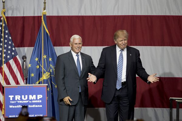 I think this is the only Trump/Pence photo we haven't used yet.