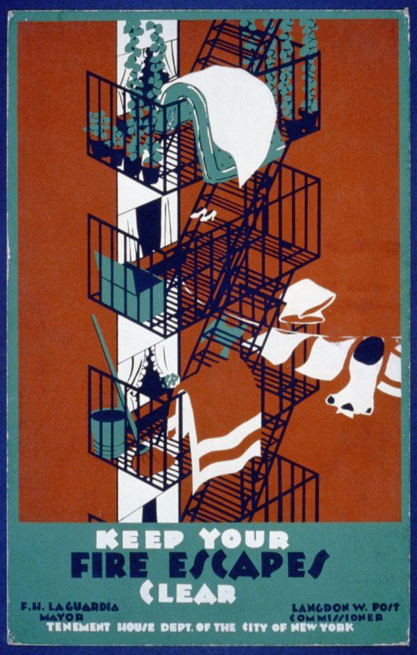 Fire Escape WPA Poster
