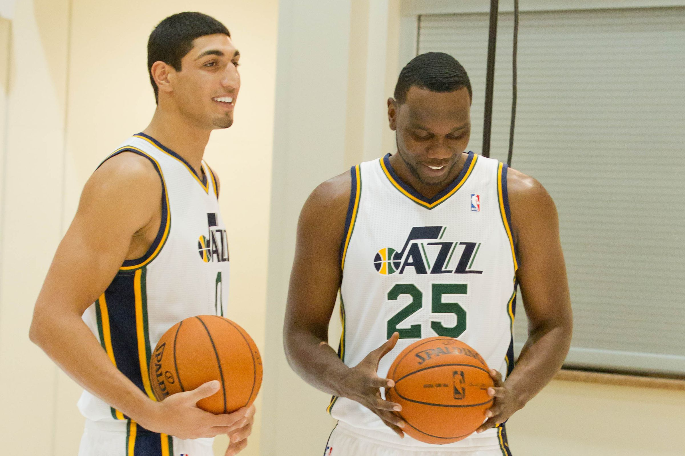 Photo of Al Jefferson  & his friend Enes Kanter