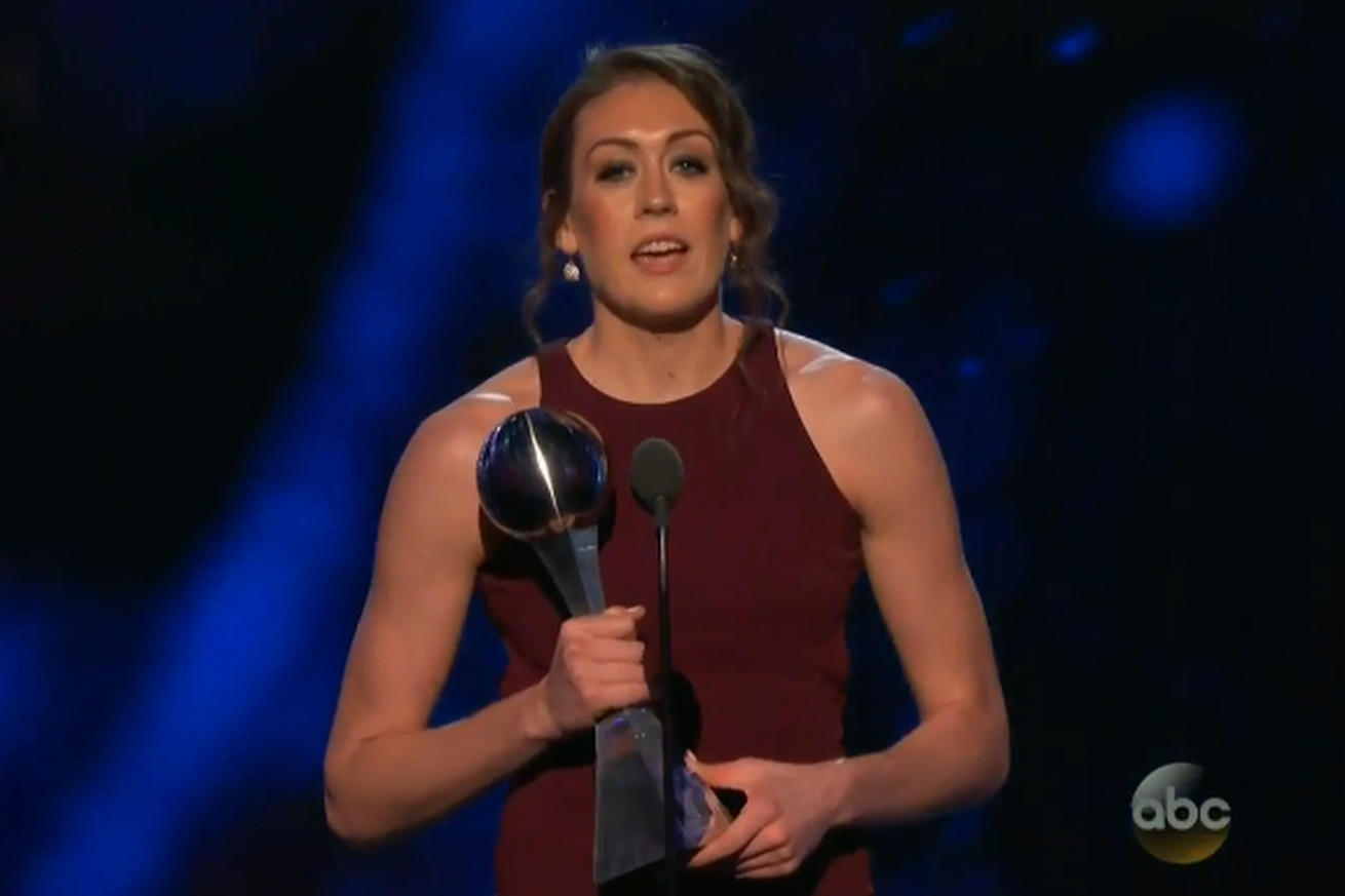 Breanna Stewart calls for equality in women's sports at the ESPYS
