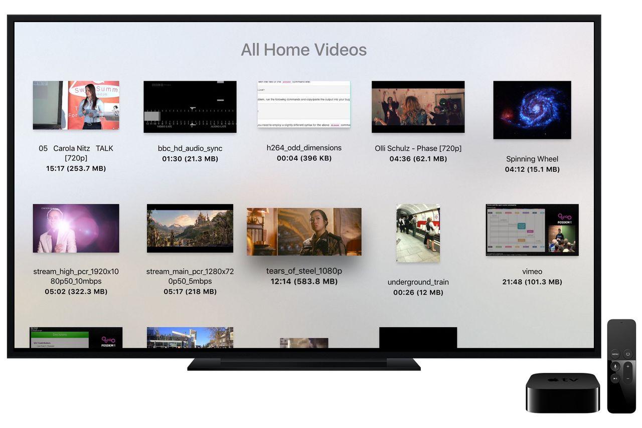 Apple tv media player app