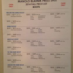 manolo blahnik sample sale connecticut