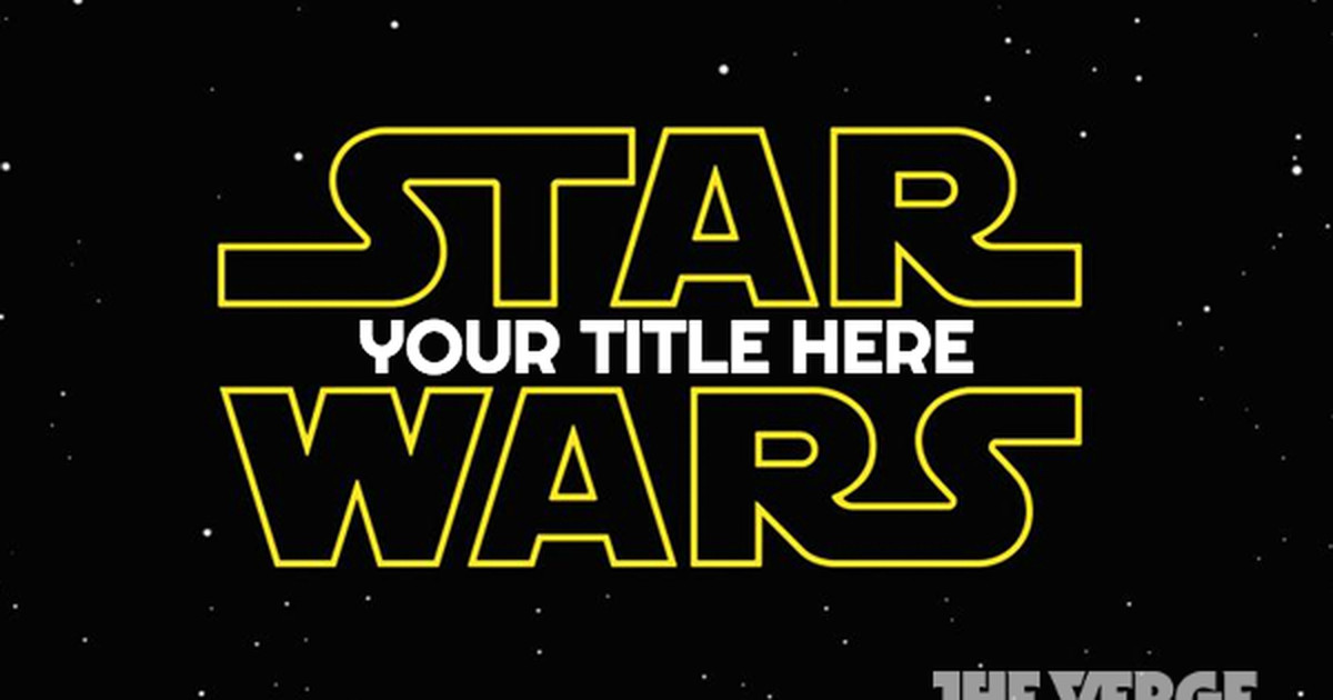 star wars episode vii title maker