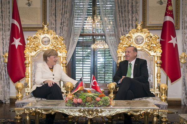 Angela Merkel and Turkish President Recep Tayyip Erdogan last year.