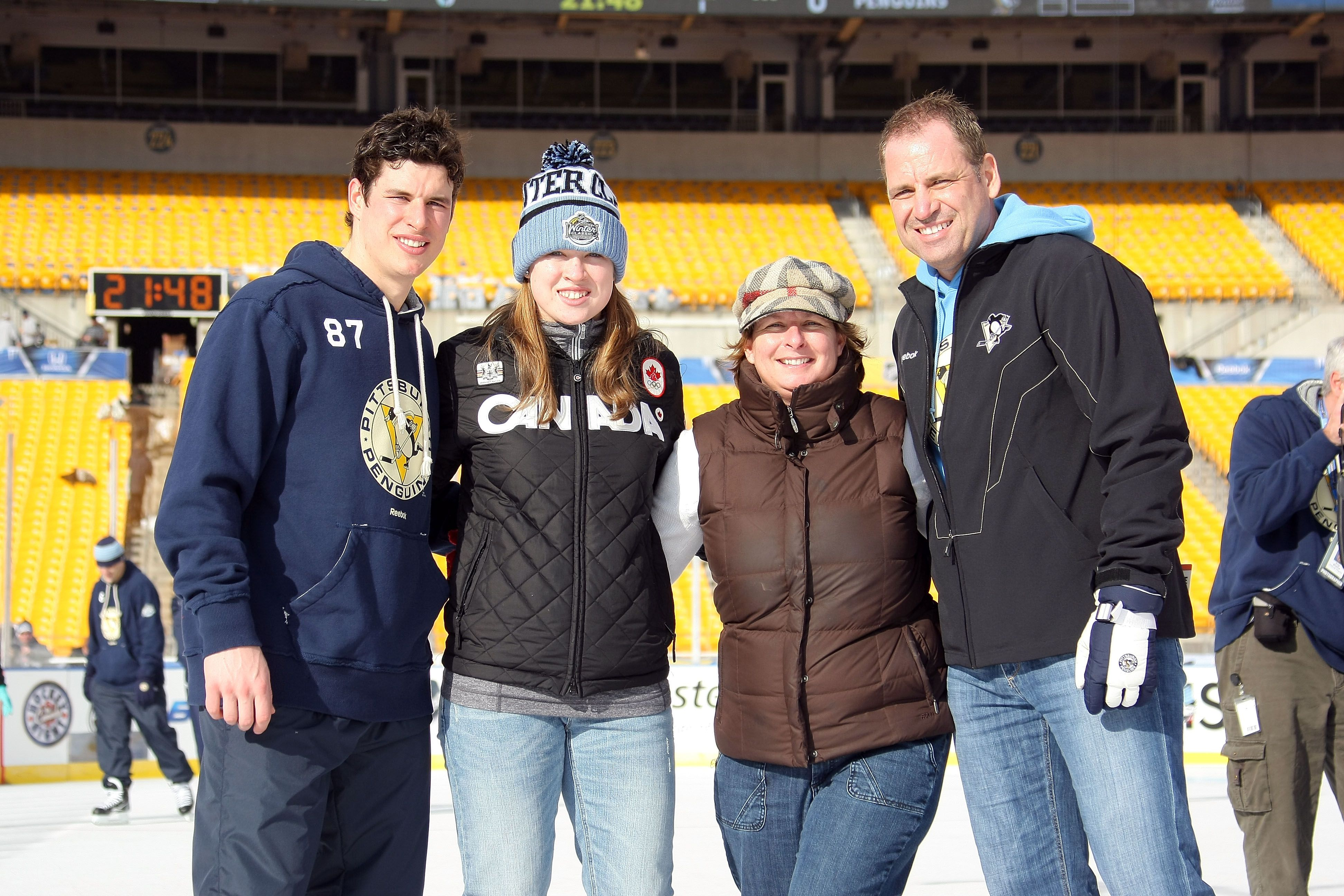 Photo of Sidney Crosby & his  Brother  Taylor Crosby