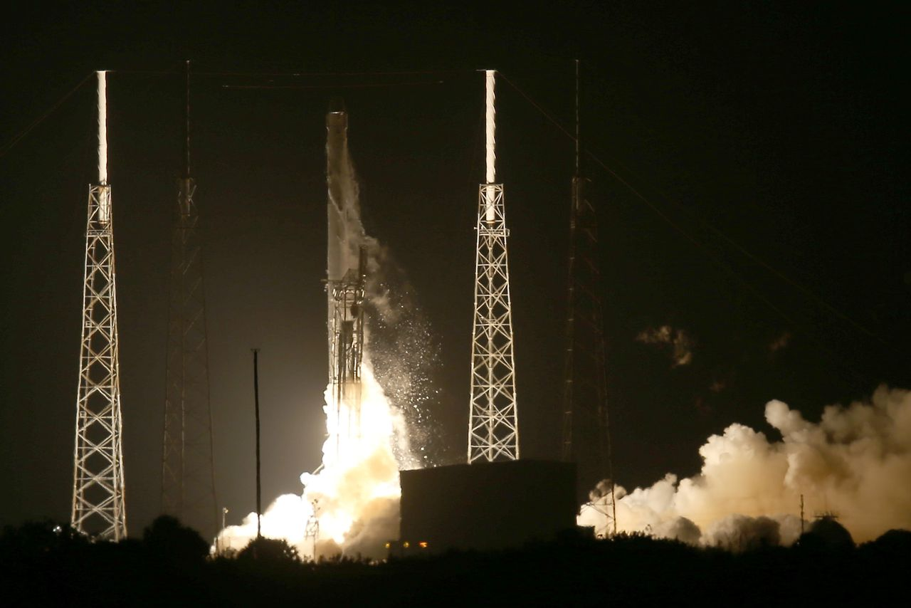 SpaceX rocket makes historic landing