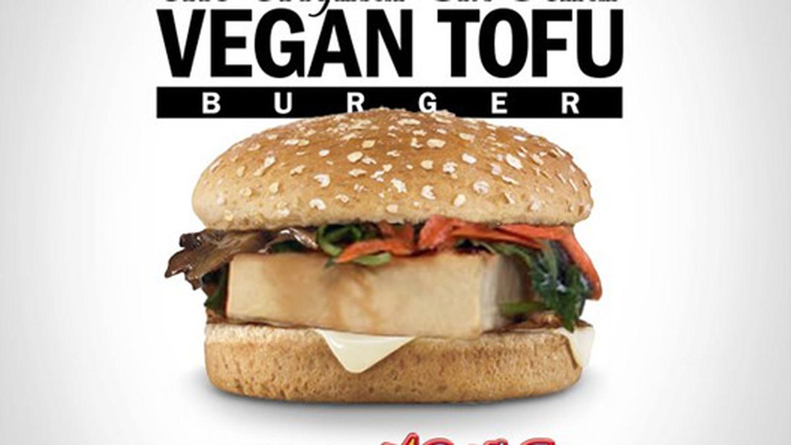 Carl's Jr Launches the Original Six Dollar Vegan Tofu Burger - Eater