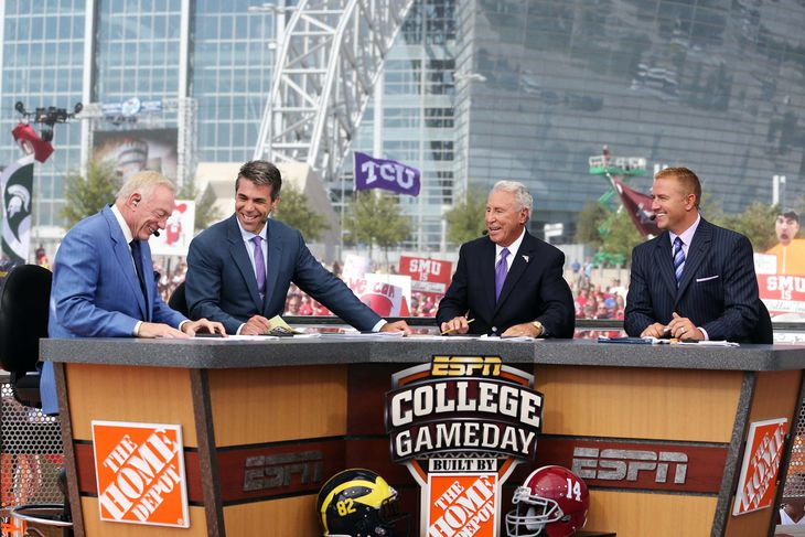 where was college gameday today college football odds espn