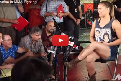 Video: Ronda Rousey UFC 193 full media day scrum