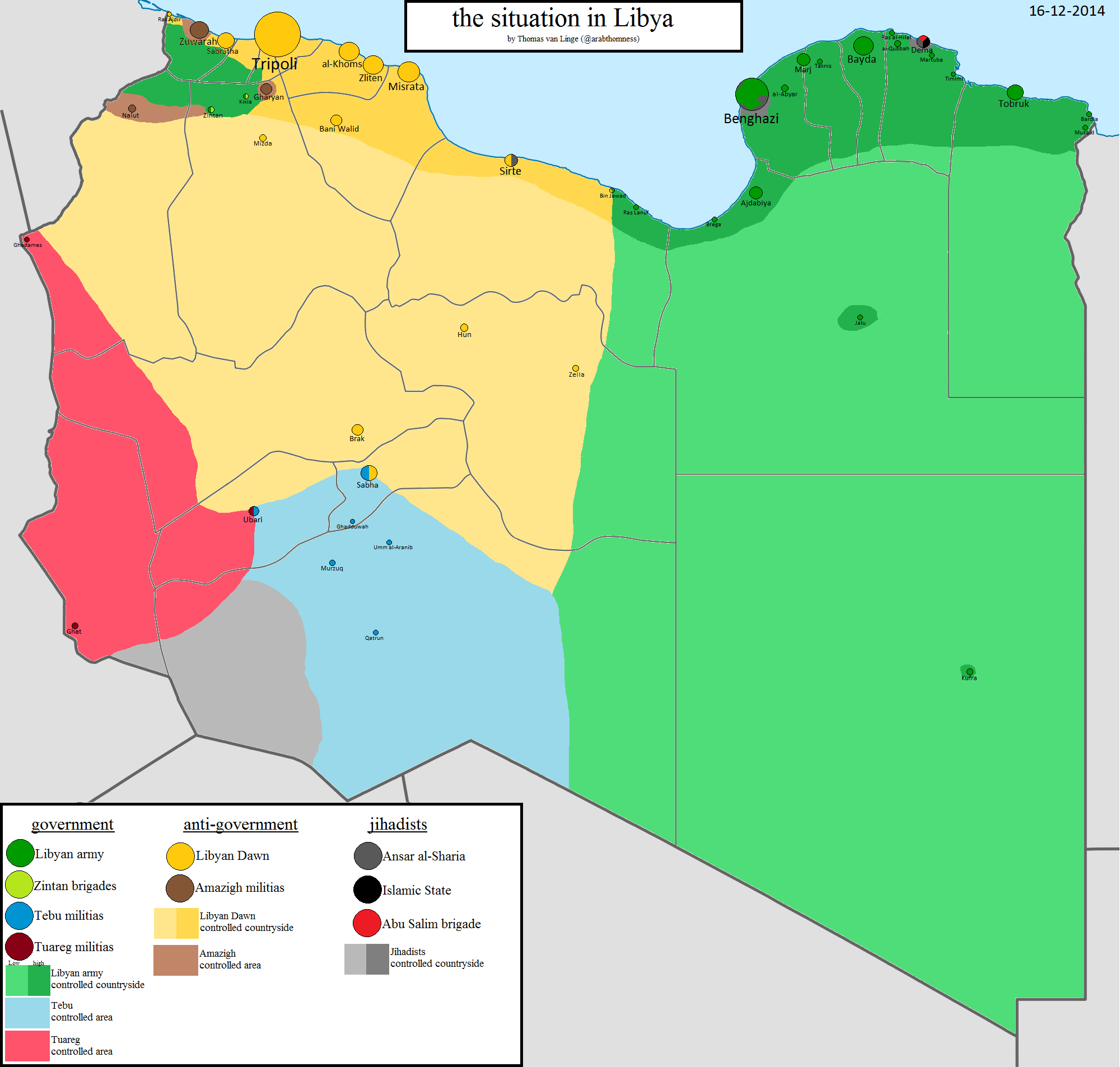 Libya's horrible, chaotic year, in one map - Vox