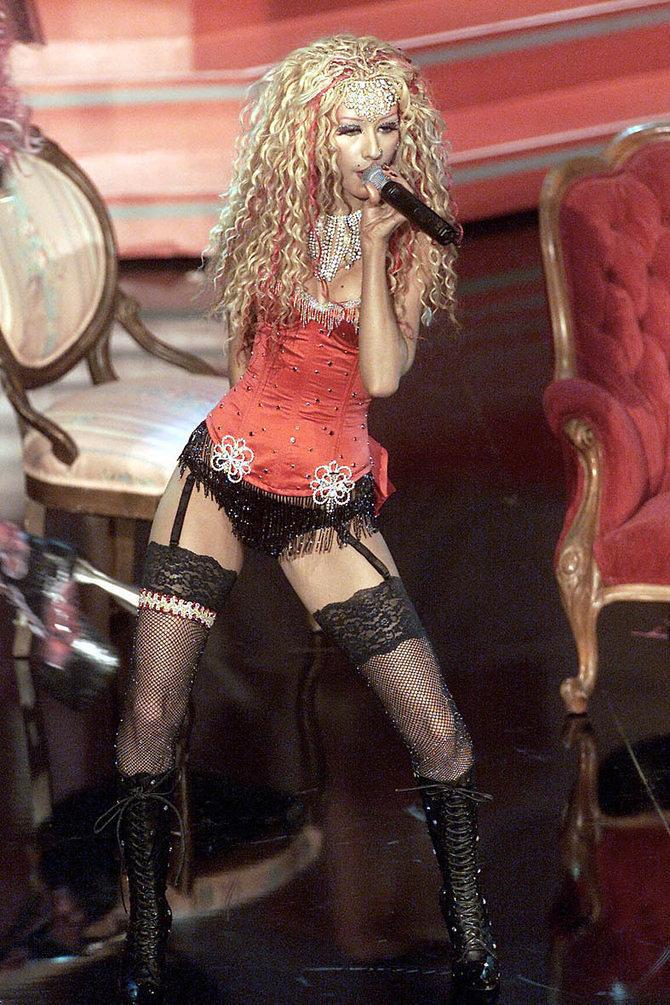 7 VMAs Where Christina Aguilera Mistook Lingerie for Clothes - Racked