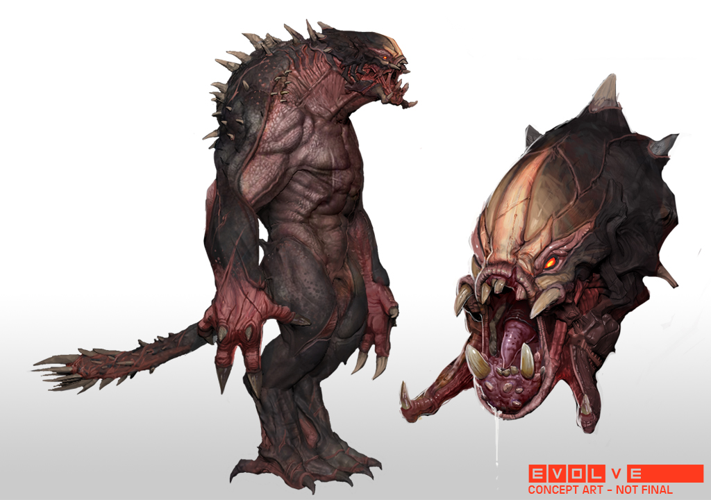Designing evolve 39 s terrifying video game monsters the verge for Did humans evolve from fish