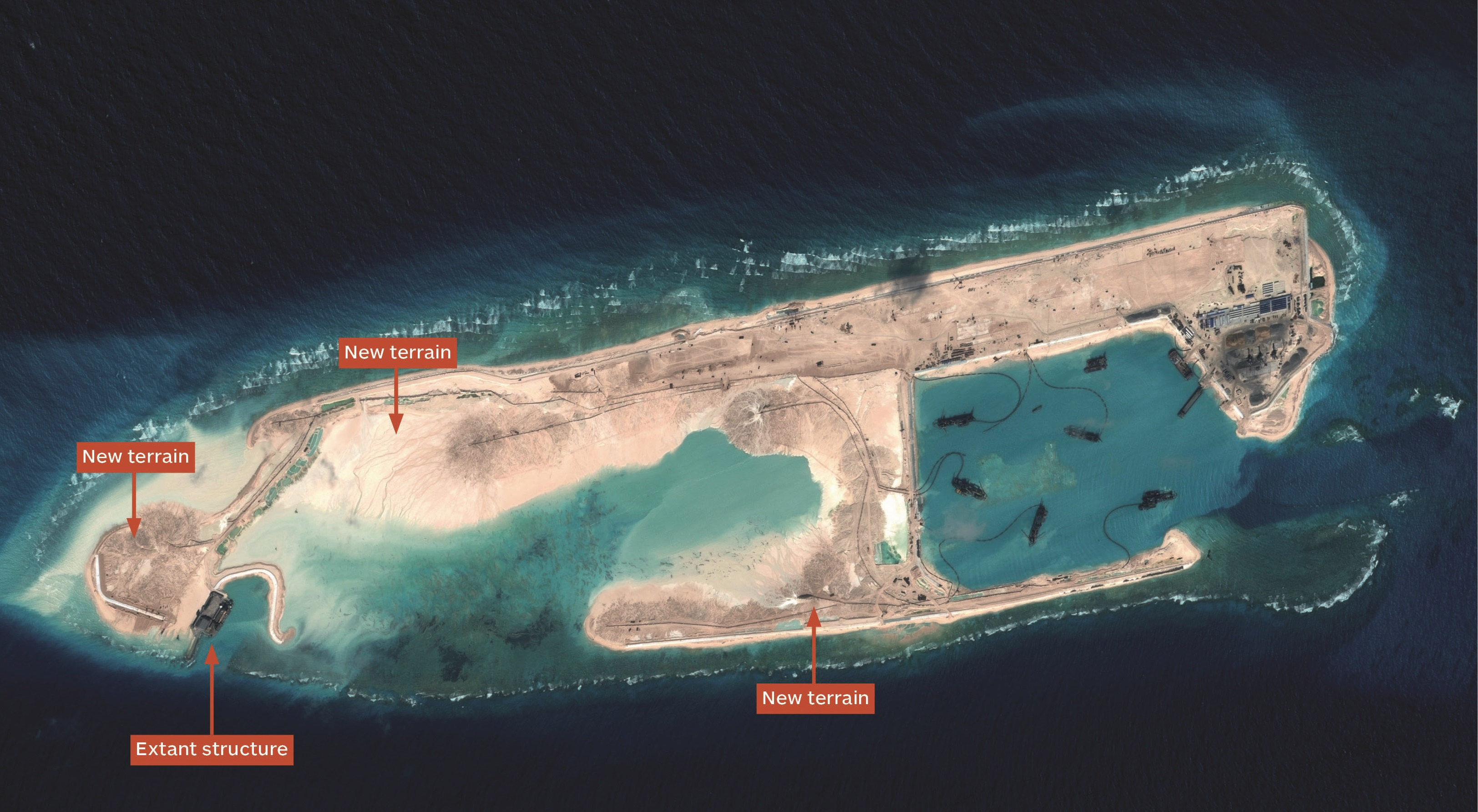 Картинки по запросу china artificial island map