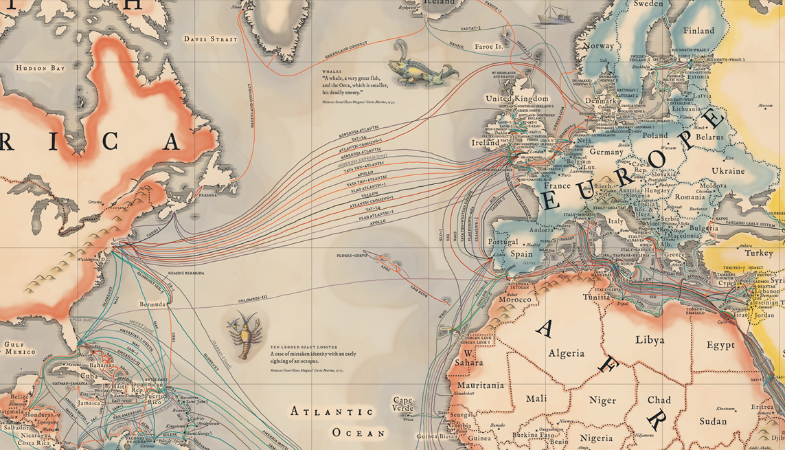 A Map Of All The Underwater Cables That Connect The Internet Vox