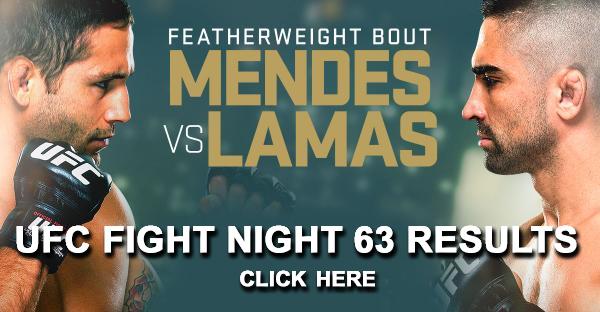 UFC Fight Night 63 Results