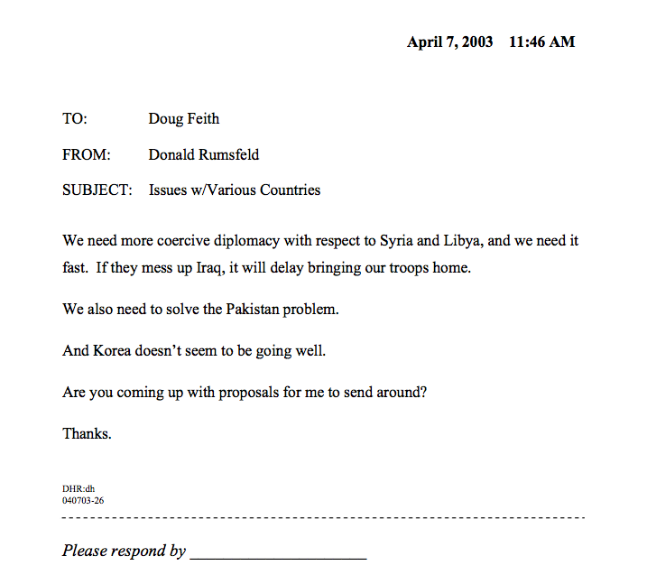12 Years Ago Today Donald Rumsfeld Sent The Greatest Memo