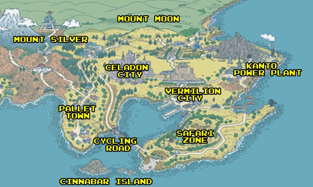 How pokemons world was shaped by real world locations polygon a tale of two tokyos if you compare the world map from pokemon gumiabroncs Images