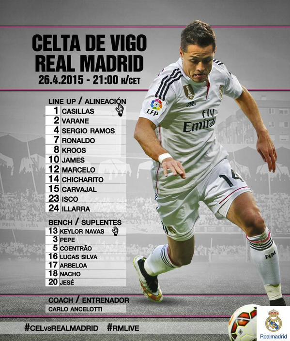 Celta Vigo Vs Barcelona Ronaldo7: CONFIRMED Lineups: Celta De Vigo Vs Real Madrid, La Liga