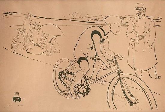 henri Toulous-Lautrec sketch featuring Choppy Waburton