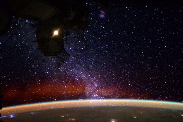 an astronaut in space will observe the sky as - photo #3