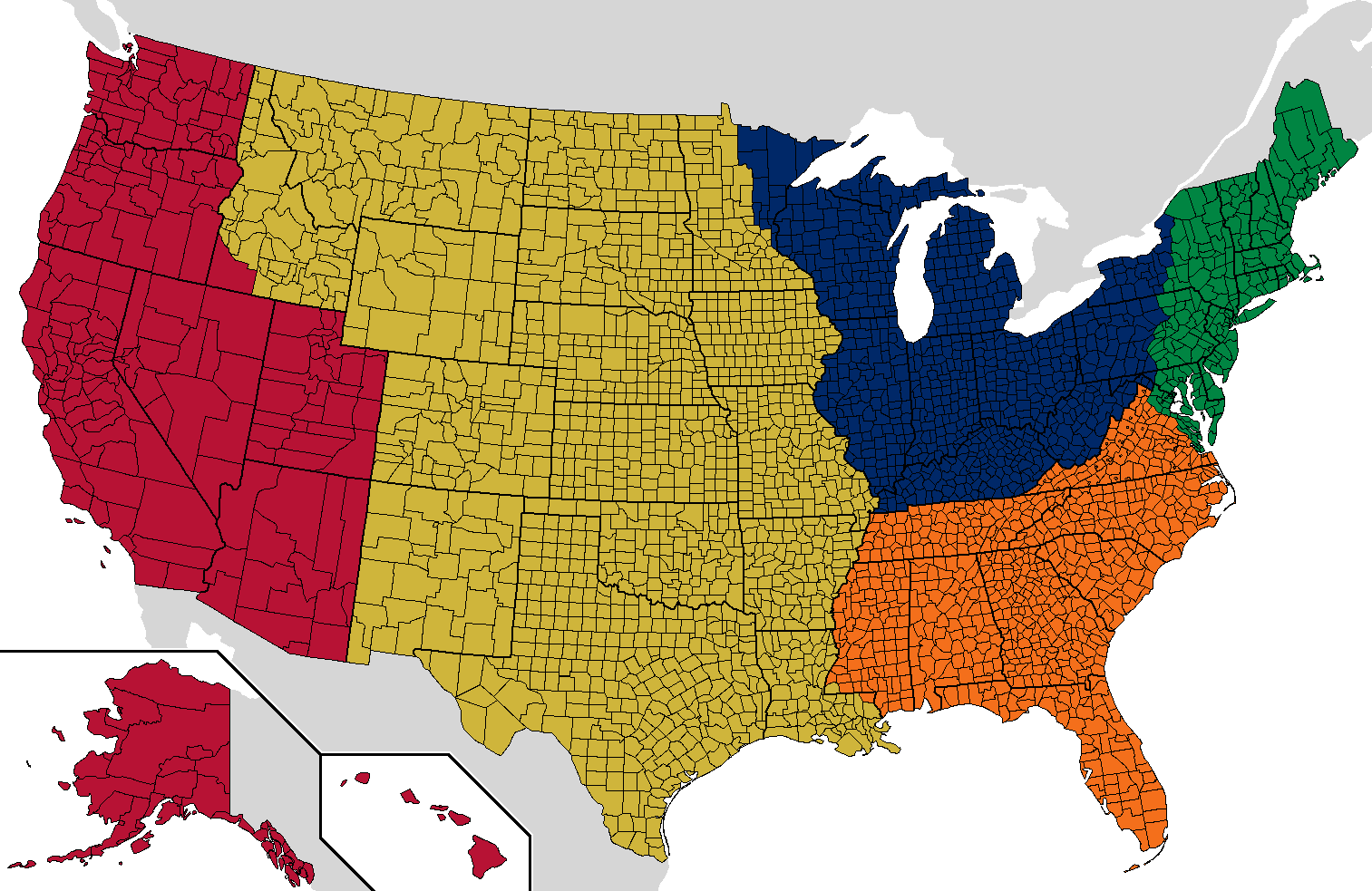 America is too big. Here\'s how to split it into five UK-sized ...