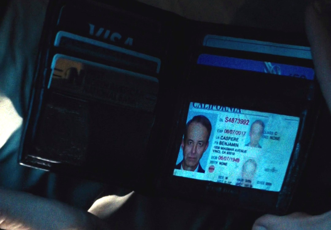 Ben Caspere's driver's license