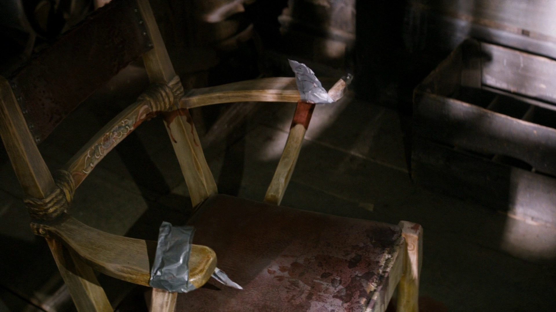 A bloody chair