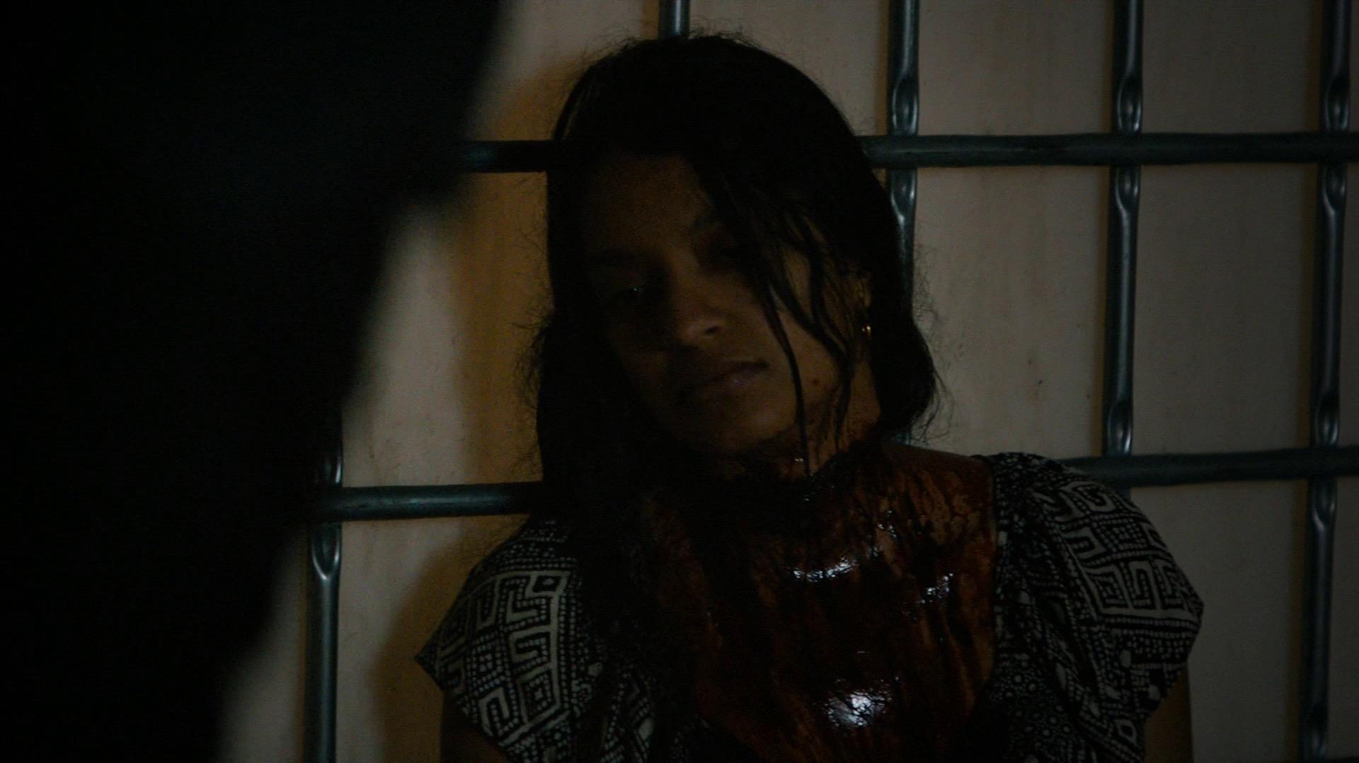 Irina, with her throat slit