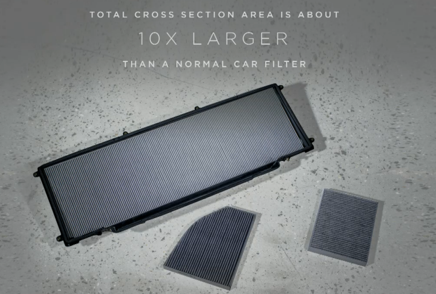 Tesla model x air filter