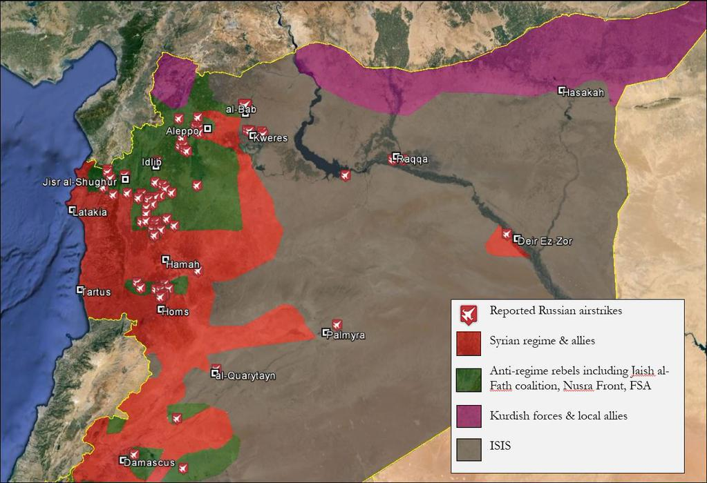 Russia says its bombing ISIS in Syria This map shows its lying Vox