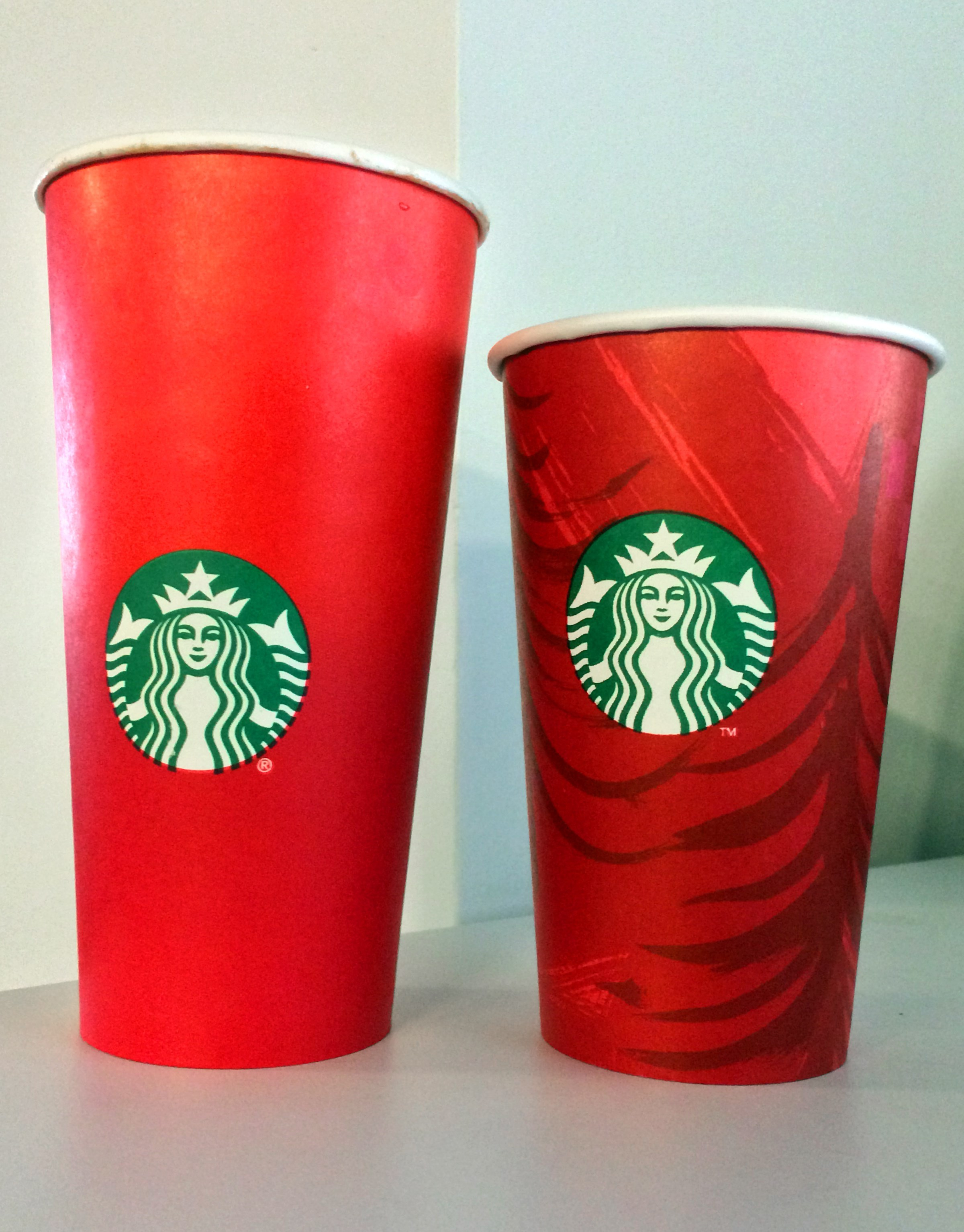starbucks s red cup controversy explained  here s what the starbucks red cup looks like now and what it looked like in 2014