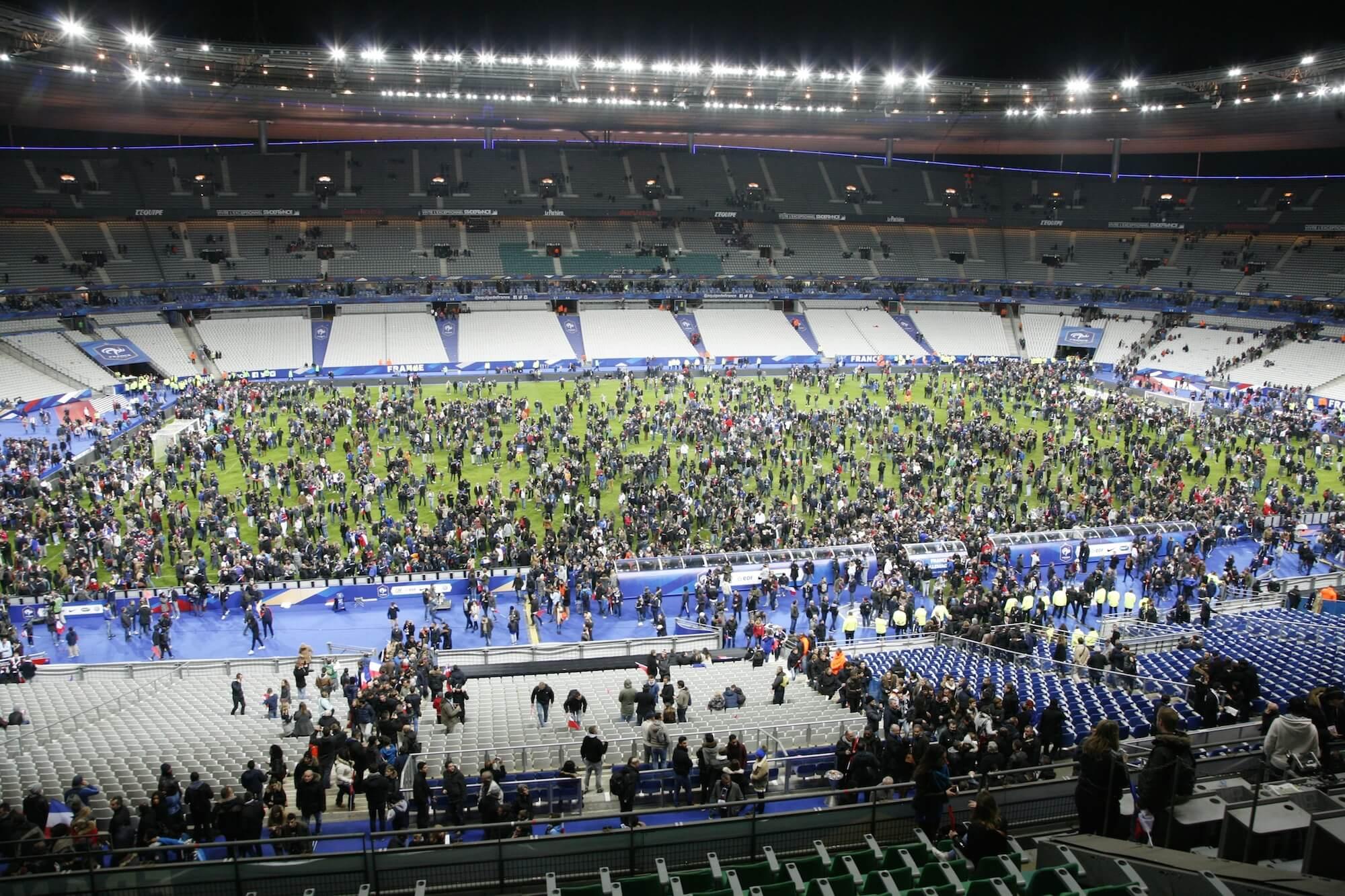 The Stade de France.