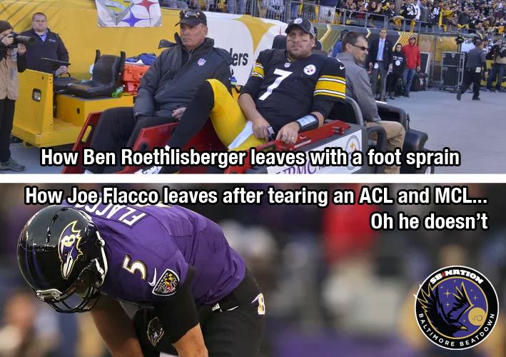 Joe Flacco Is Tougher Than Ben Roethlisberger Baltimore