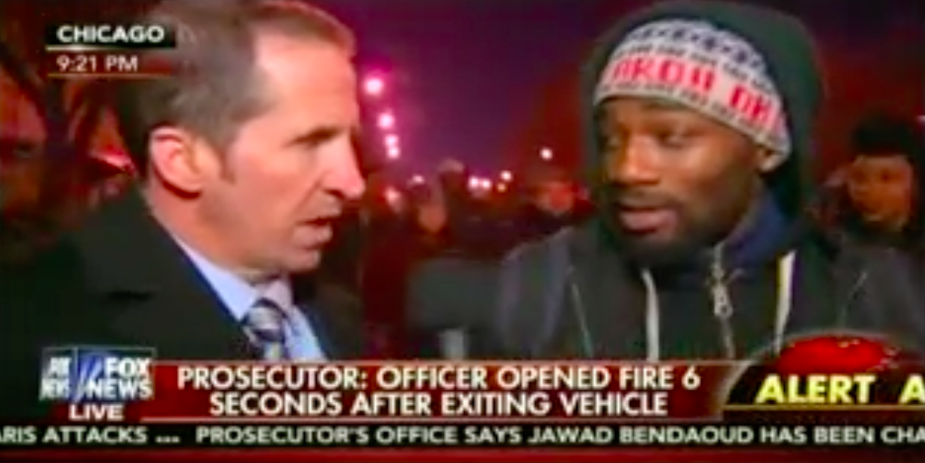 Fox News asked a Chicago protester about black-on-black crime  His