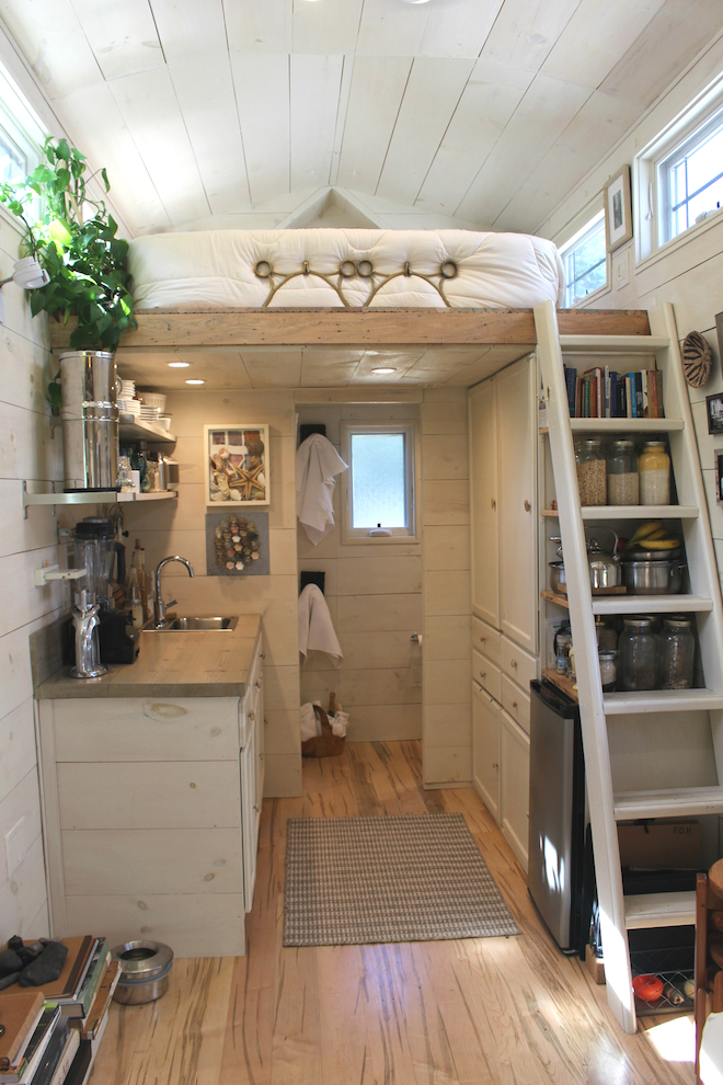 Impressive tiny house built for under 30k fits family of for Hall design for small house