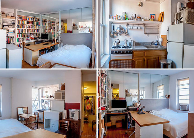 New york city 39 s 14 most famous micro apartments curbed ny for 100 sq ft living room