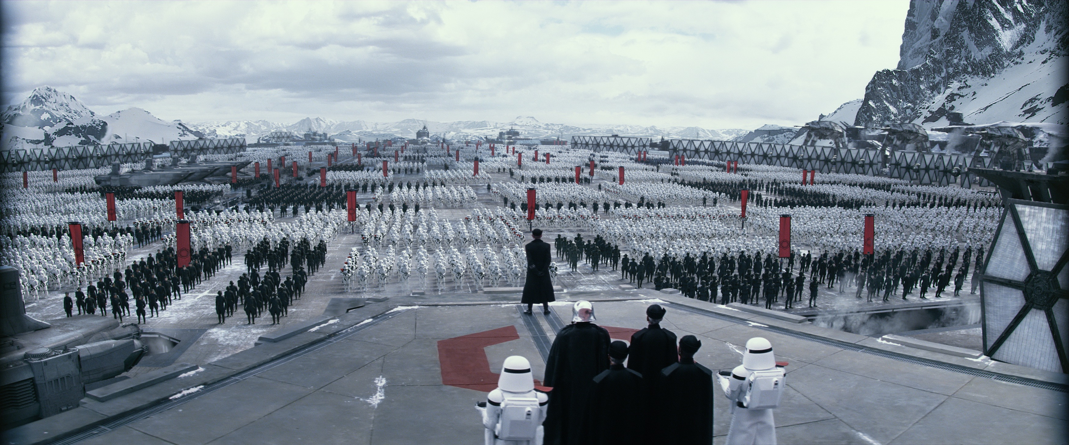 Stormtroopers gather like Nazis
