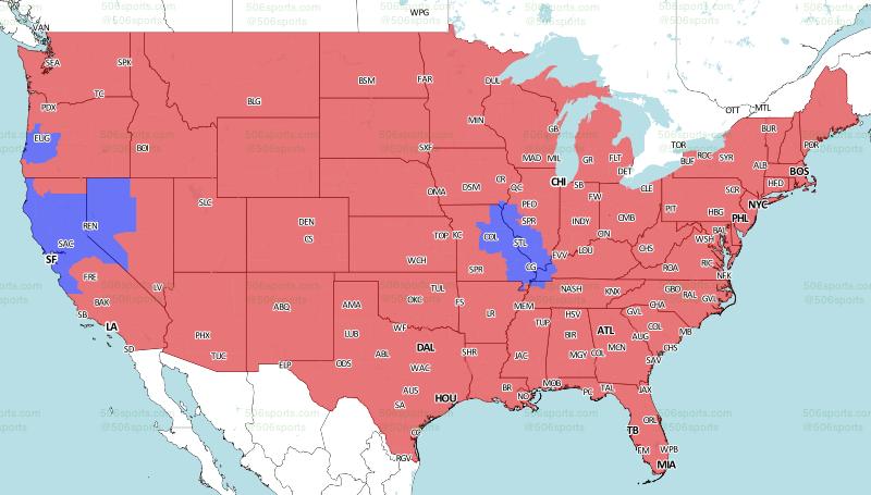 Week 17 broadcast map