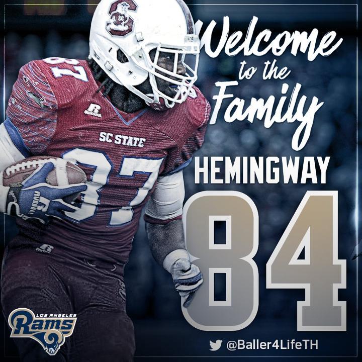 Temarrick Hemingway jersey number